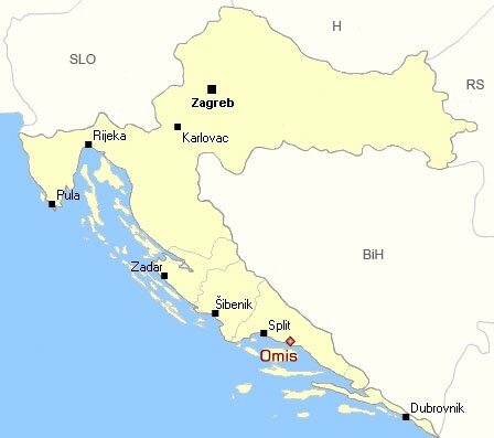 Omis General Information Location and Climate Omis Croatia