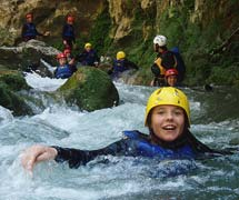 Canyoning on the river Cetina